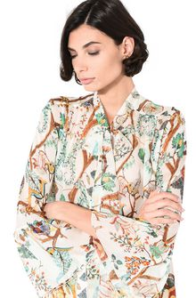 ALBERTA FERRETTI Shirt with soft bow Blouse Woman a