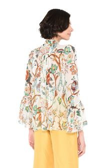 ALBERTA FERRETTI Shirt with soft bow Blouse Woman d