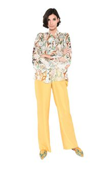 ALBERTA FERRETTI Shirt with soft bow Blouse Woman f