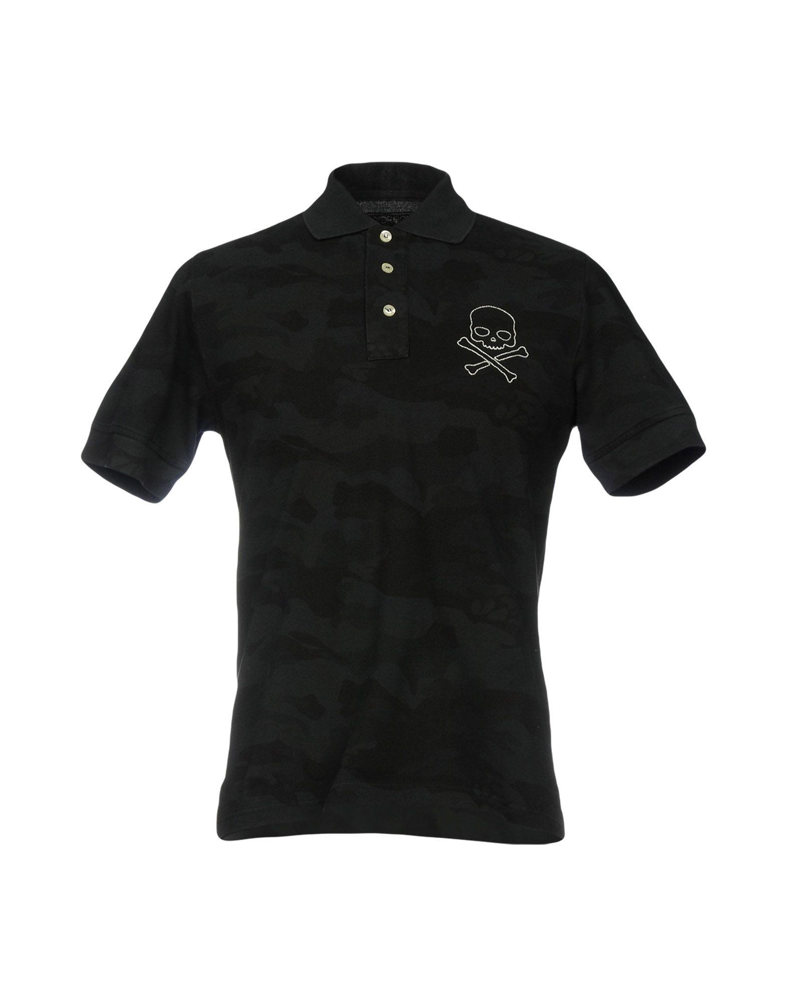 《送料無料》HYDROGEN メンズ ポロシャツ スチールグレー XS コットン 100%