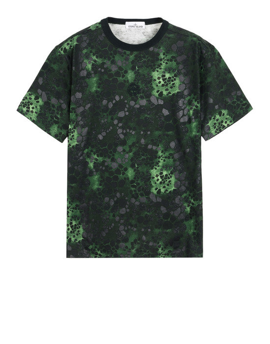 STONE ISLAND Short sleeve t-shirt 246E3 ALLIGATOR CAMO