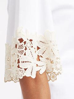 Lace-trim T-shirt