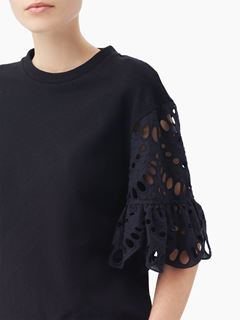 Flared-sleeve top