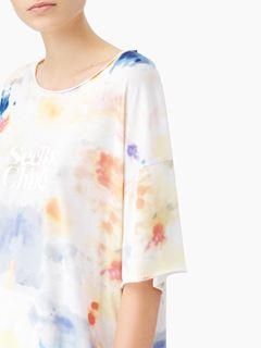 """T-shirt oversize en coton imprimé """"SBC tie & dye"""""""