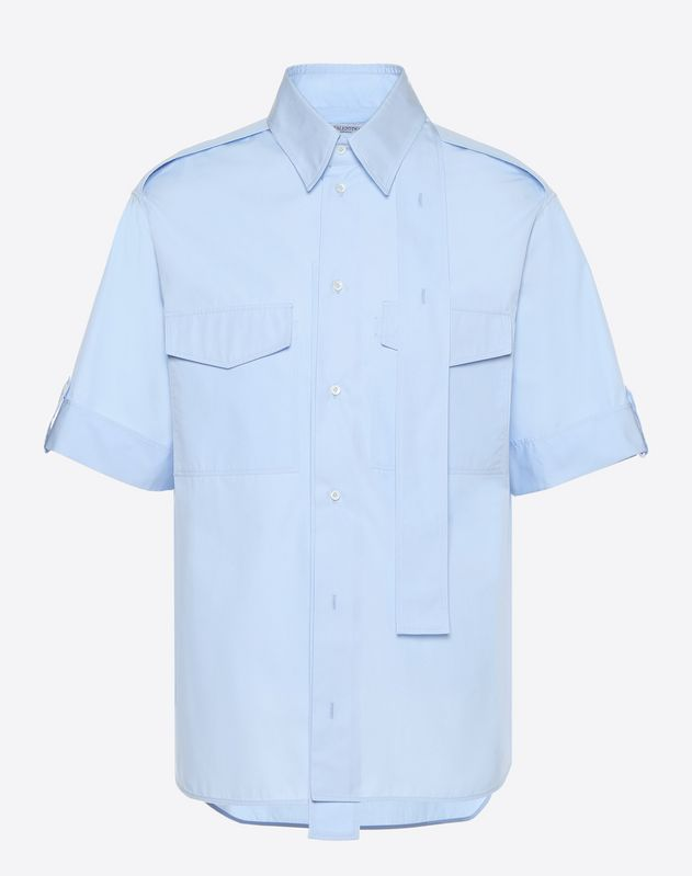 Short-sleeve couture shirt