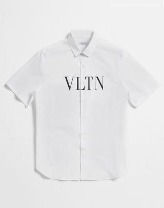VLTN VALENTINO UOMO Short-sleeve VLTN couture shirt White Cotton 12143134VV