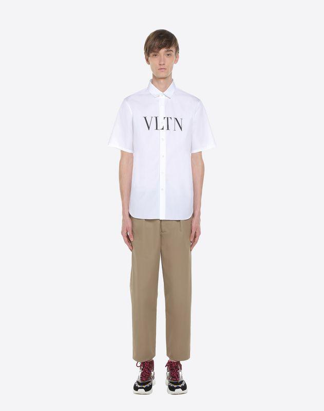 Рубашка от-кутюр с короткими рукавами и логотипом VLTN