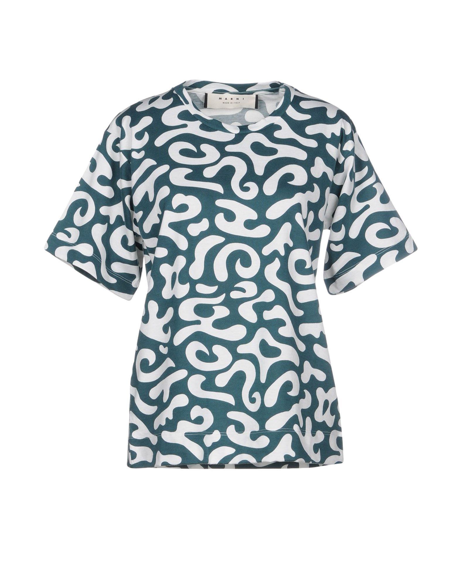 MARNI Damen T-shirts Farbe Grün Größe 6