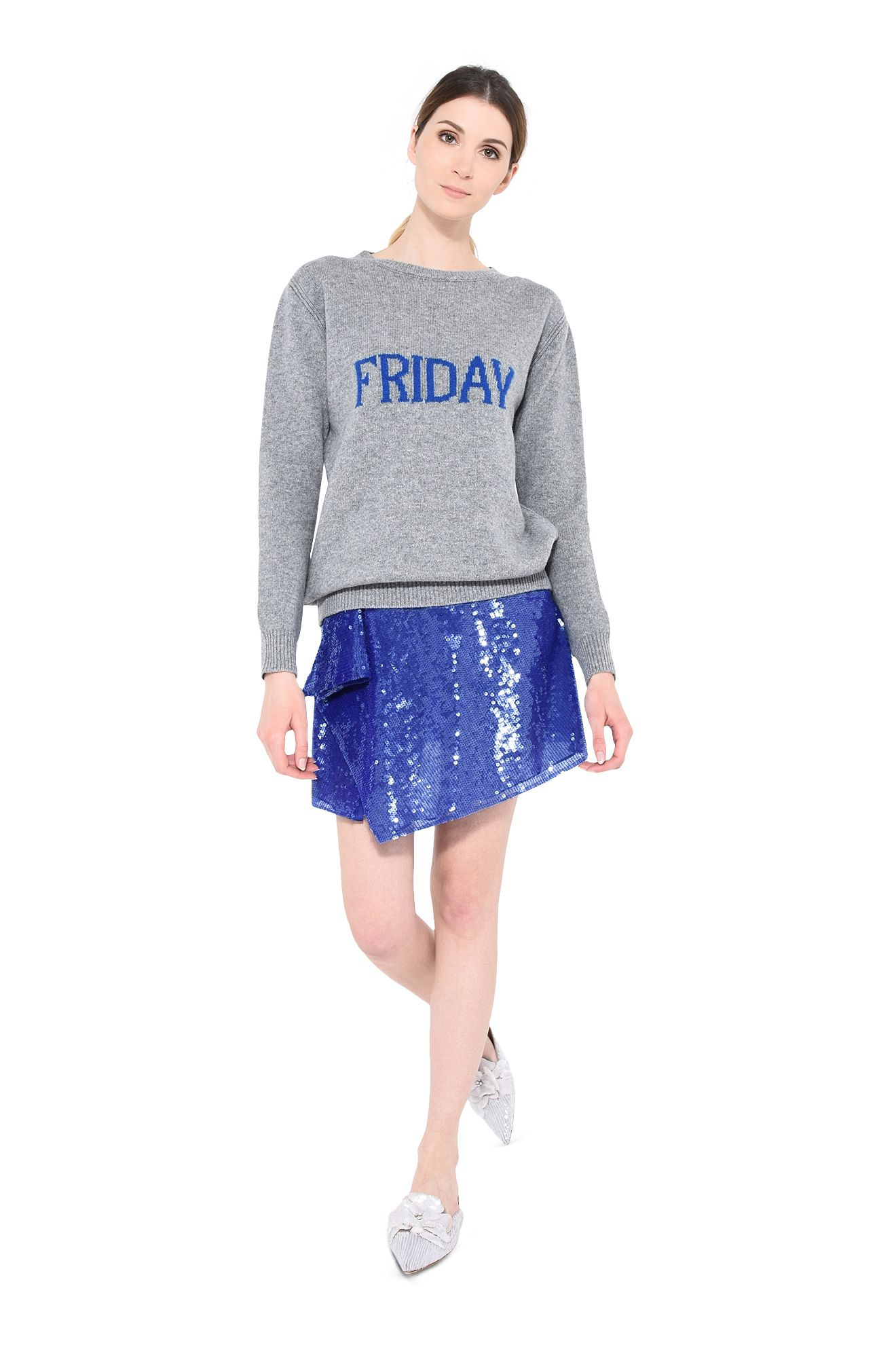 Pastellfarbener Sweater Friday