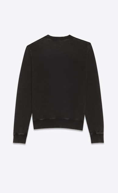 SAINT LAURENT Sportswear Tops Damen 1993 Sweatshirt aus schwarzem Fleece. b_V4