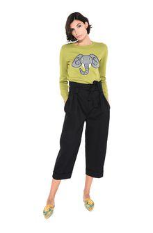 ALBERTA FERRETTI Green sweater with elephant KNITWEAR Woman f