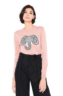 ALBERTA FERRETTI Pink sweater with elephant KNITWEAR Woman r