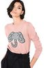 ALBERTA FERRETTI Pink sweater with elephant KNITWEAR Woman a