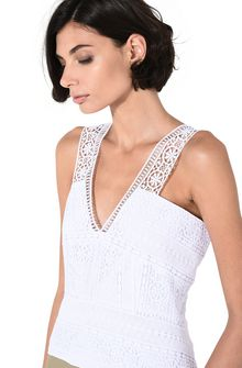 ALBERTA FERRETTI Geometric lace top TOPWEAR Woman a
