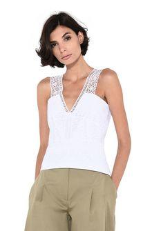 ALBERTA FERRETTI Geometric lace top TOPWEAR Woman r