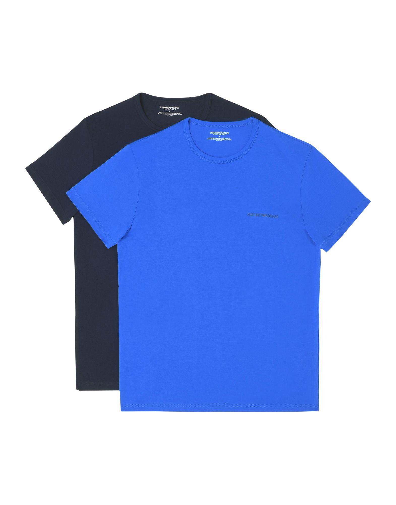 《セール開催中》EMPORIO ARMANI メンズ アンダーTシャツ ブライトブルー S コットン 95% / ポリウレタン 5% MEN'S KNIT 2-PACK T-