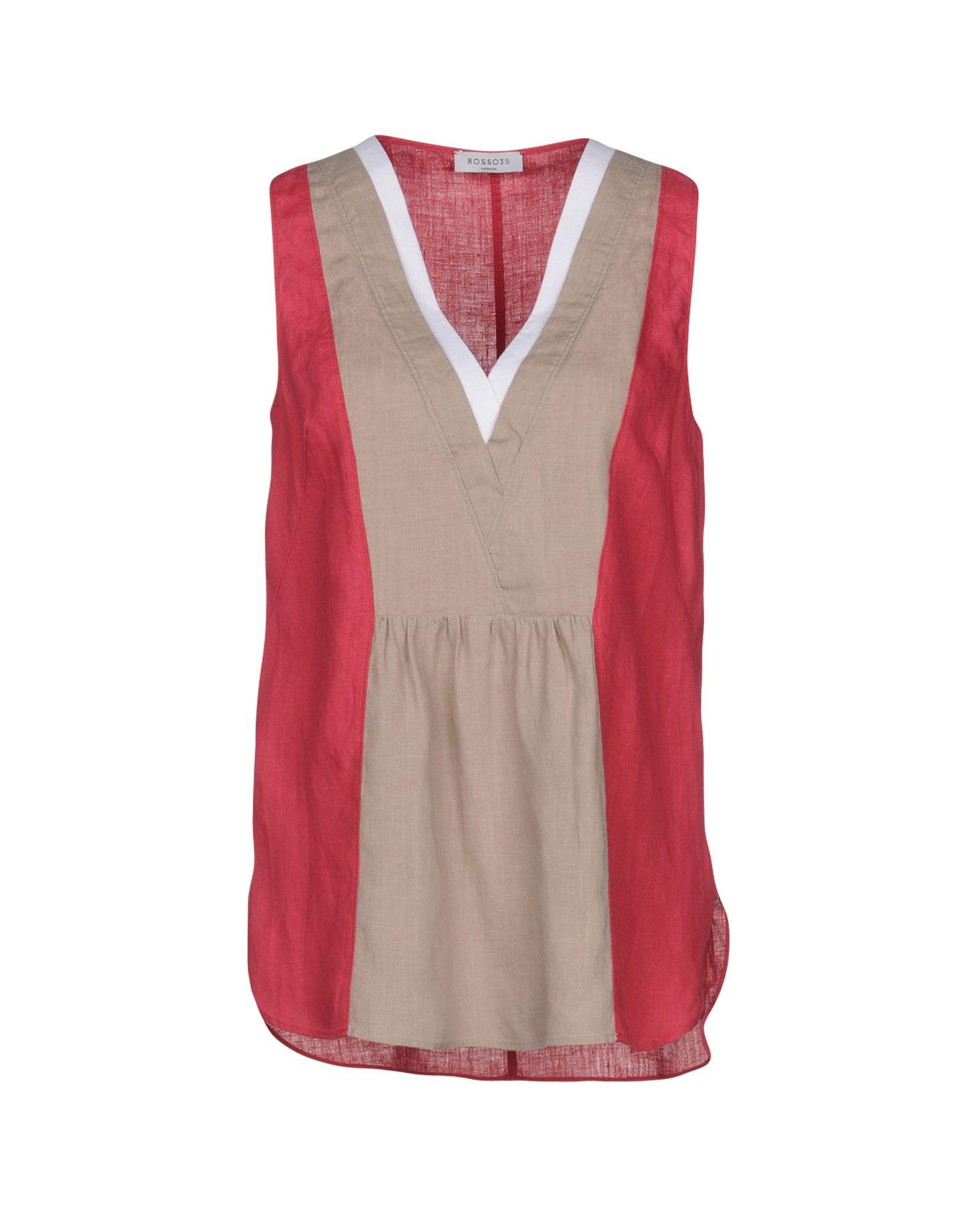 ROSSO35 Топ без рукавов rosso35 блуза rosso35 s2047b 44 бежевый