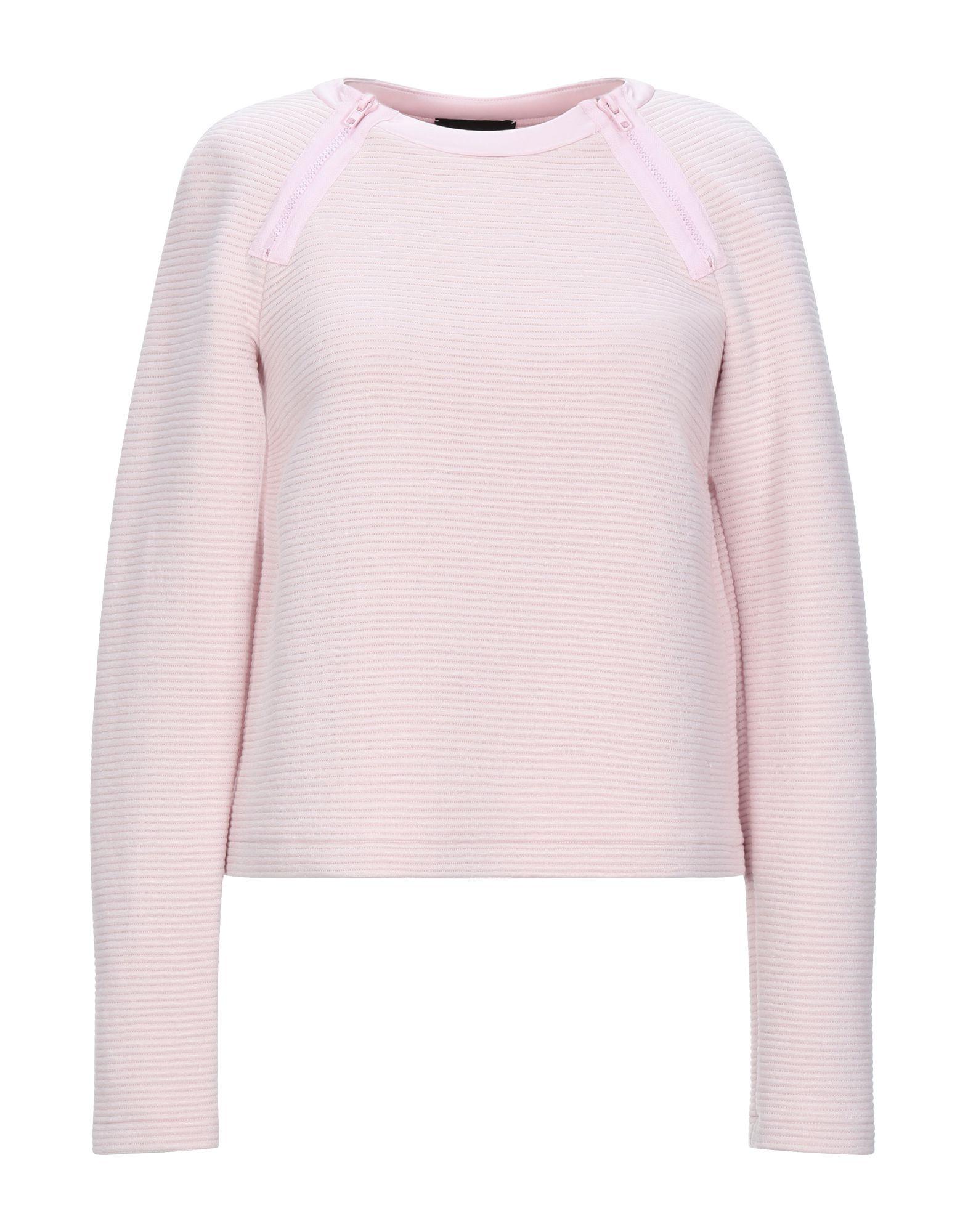 《セール開催中》EMPORIO ARMANI レディース T シャツ ピンク 40 レーヨン 50% / ナイロン 45% / ポリウレタン 5% / ポリウレタンコート / ポリエステル