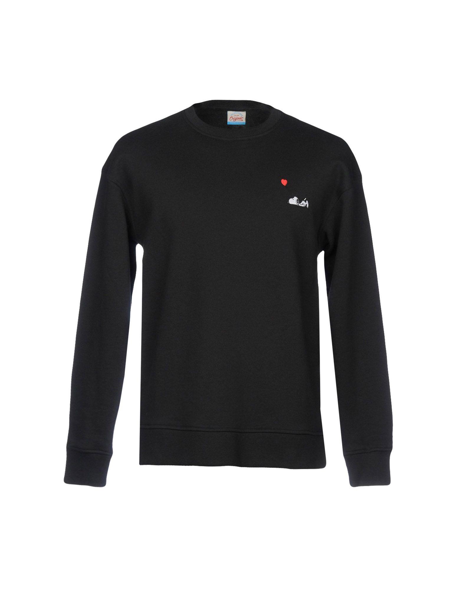 《期間限定セール開催中!》JACK & JONES ORIGINALS メンズ スウェットシャツ ブラック L コットン 100%