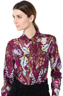 ALBERTA FERRETTI Magenta khadi shirt SHIRT Woman a