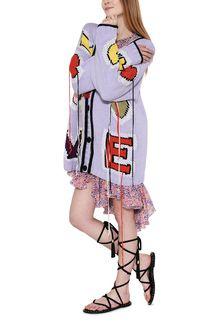 PHILOSOPHY di LORENZO SERAFINI Maxi cardigan Love lilla Cardigan Donna a
