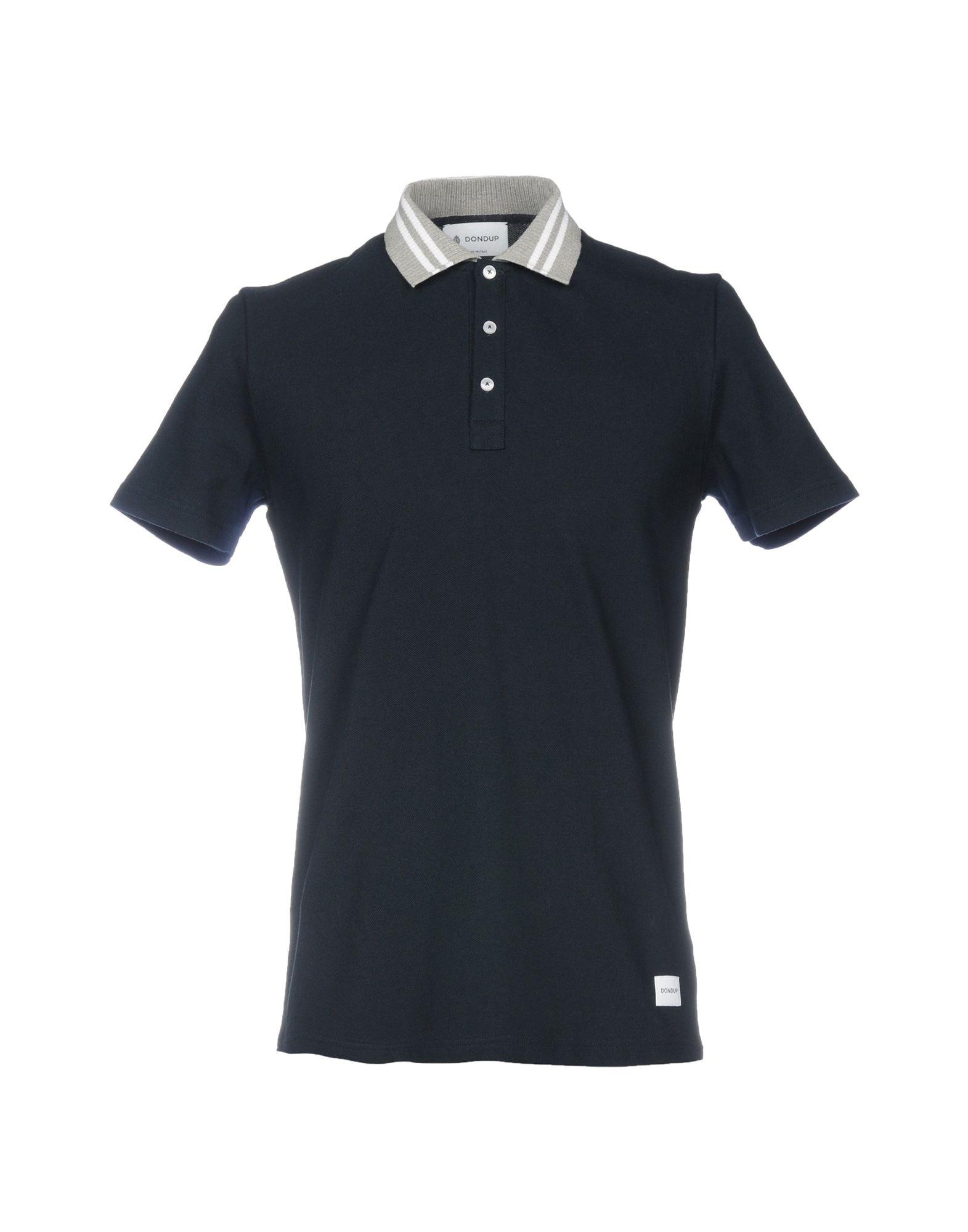 《送料無料》DONDUP メンズ ポロシャツ ダークブルー M コットン 100%