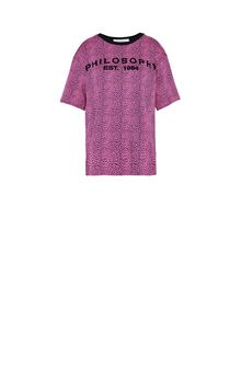 PHILOSOPHY di LORENZO SERAFINI T-shirt fucsia micro animalier T-shirt Donna f