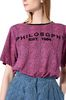 PHILOSOPHY di LORENZO SERAFINI T-shirt fucsia micro animalier T-shirt Donna e