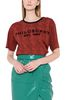 PHILOSOPHY di LORENZO SERAFINI Red T-shirt with micro animal pattern T-shirt Woman r
