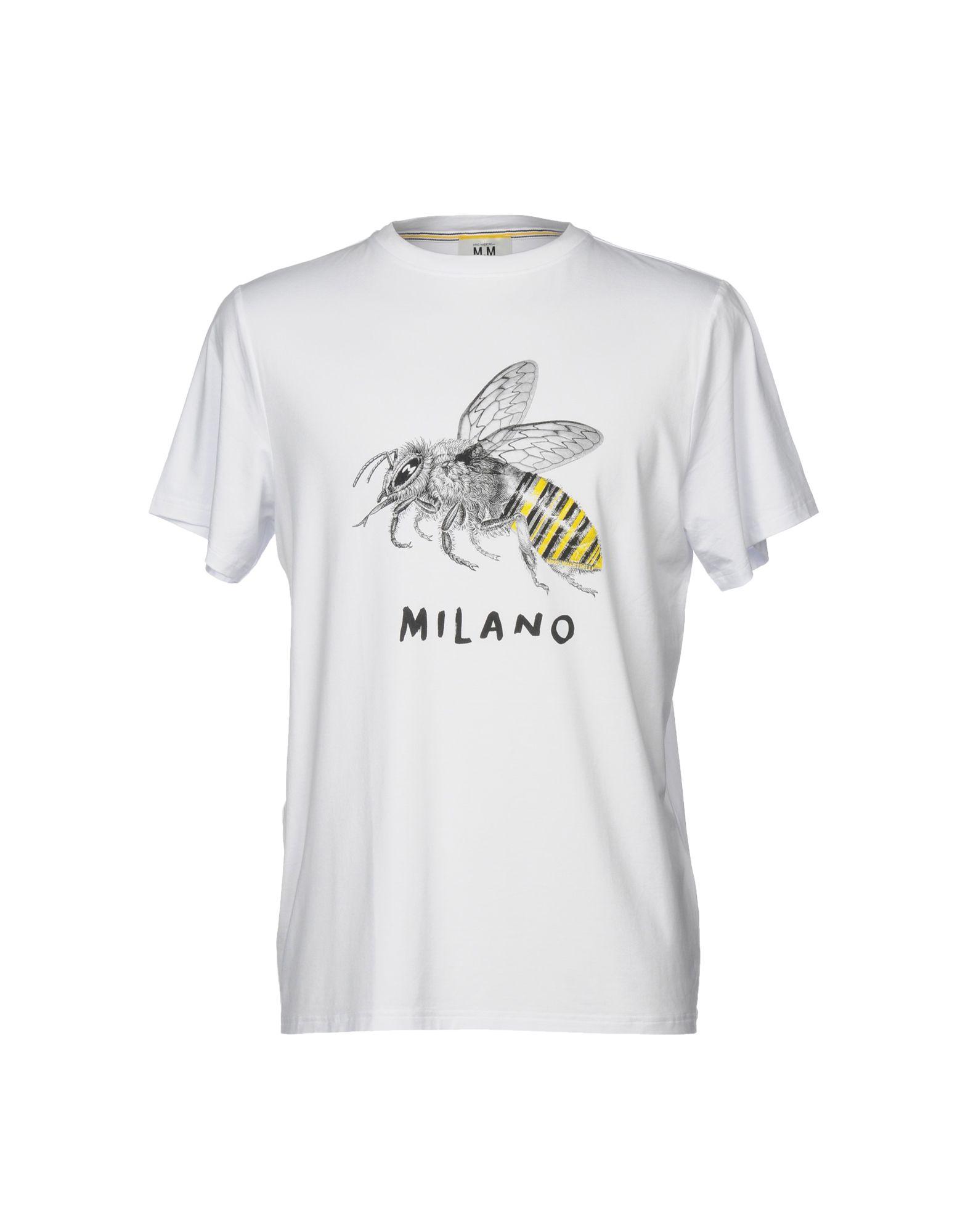 《送料無料》MINO MAESTRELLI メンズ T シャツ ホワイト S コットン 100%