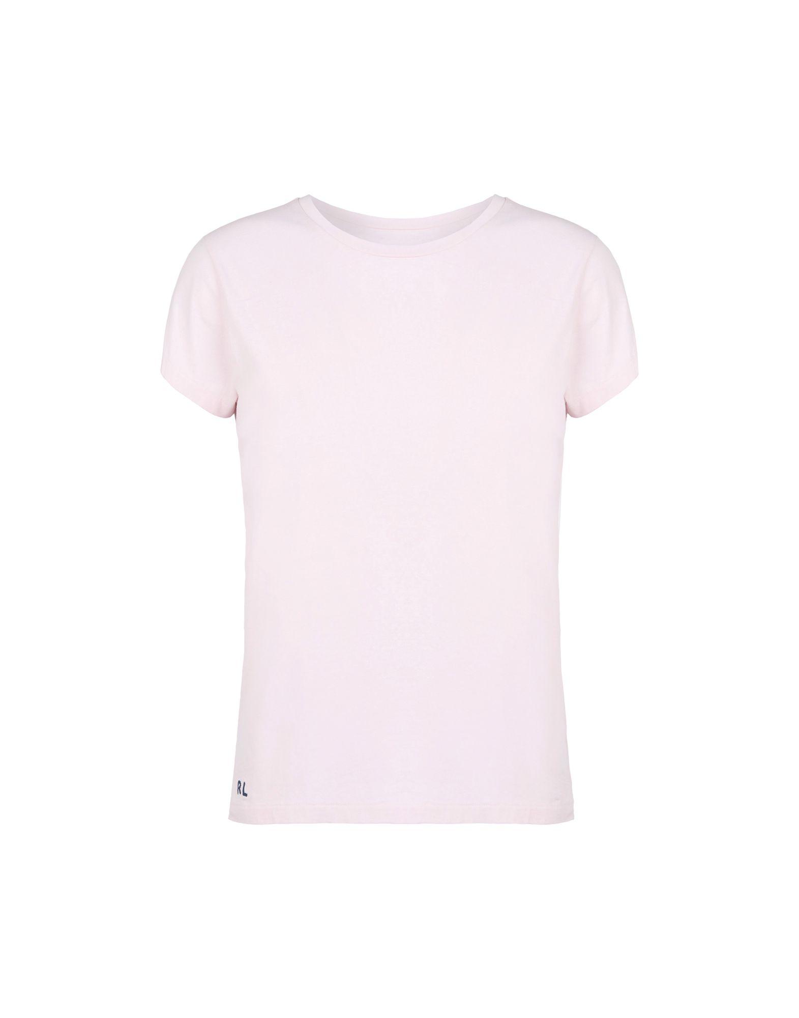 《送料無料》POLO RALPH LAUREN レディース T シャツ ライトピンク L コットン 100% Custom Fit T shirt