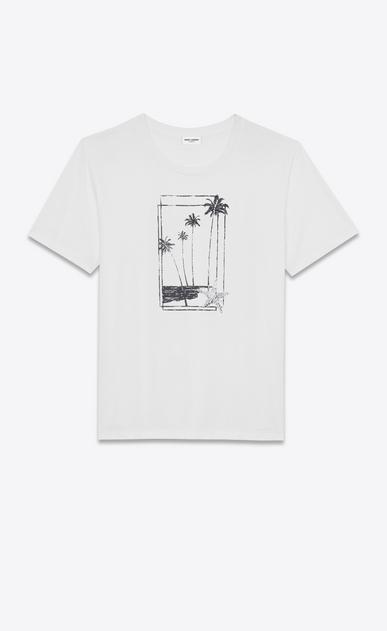 SAINT LAURENT T-Shirt and Jersey Man SOUVENIR STAR T-shirt in white jersey a_V4