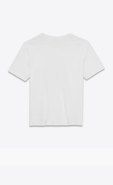 SAINT LAURENT T-Shirt and Jersey Man SOUVENIR STAR T-shirt in white jersey b_V4