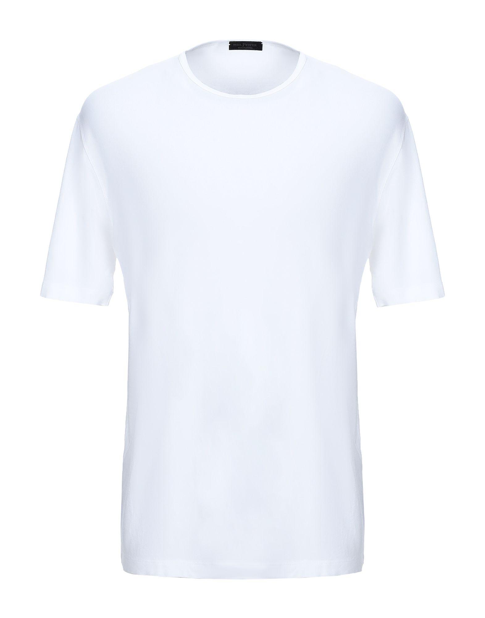 《セール開催中》PHIL PETTER メンズ T シャツ ホワイト XXL レーヨン 86% / ポリウレタン 14%