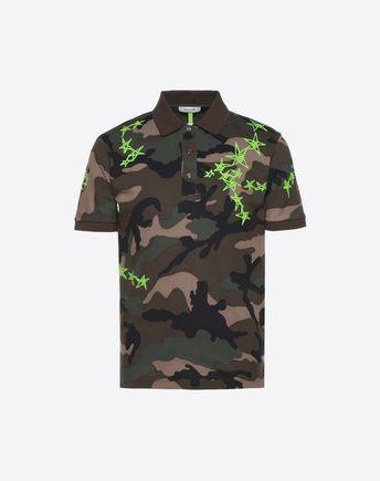 fcc393e9 Camouflage Zandra Stars polo for Man | Valentino Online Boutique