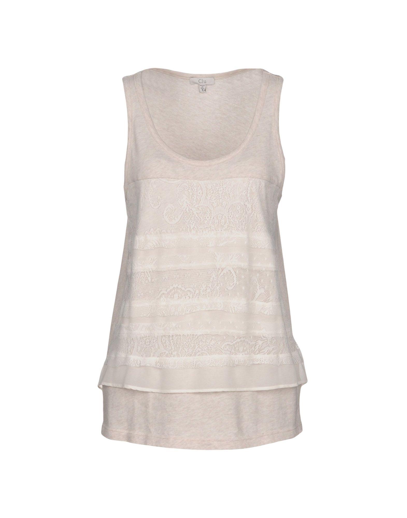 CLU Топ без рукавов y clu юбка для девочки yb6286 разноцветный y clu