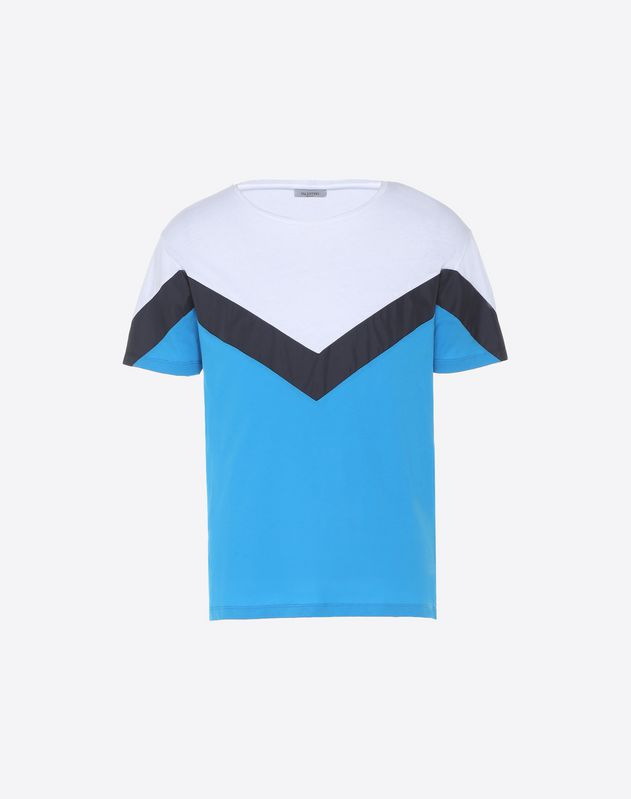 T-shirt with geometric motif