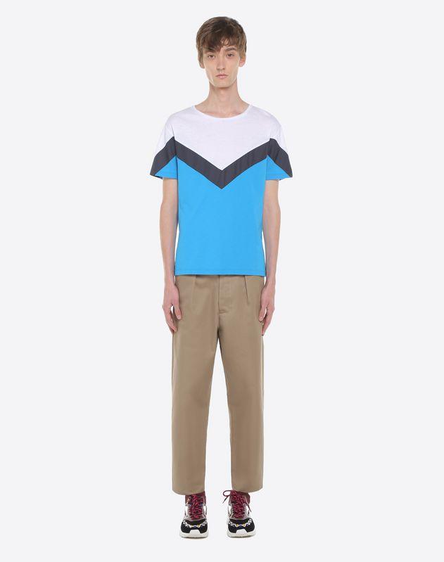 Camiseta con motivo geométrico