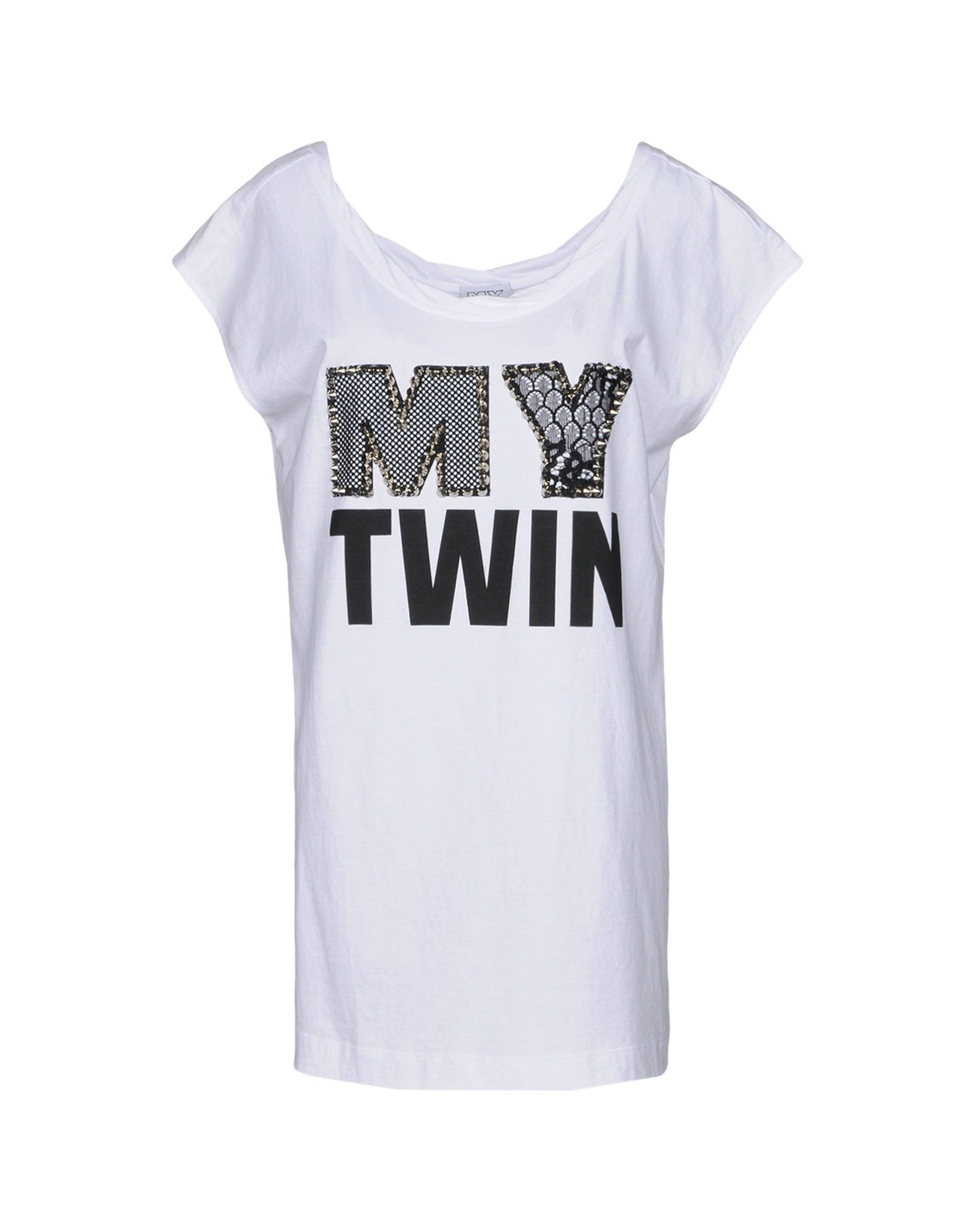 MY TWIN by TWIN SET Футболка twin set футболка с кружевом twin set j2a4fb 1014 кремовый m