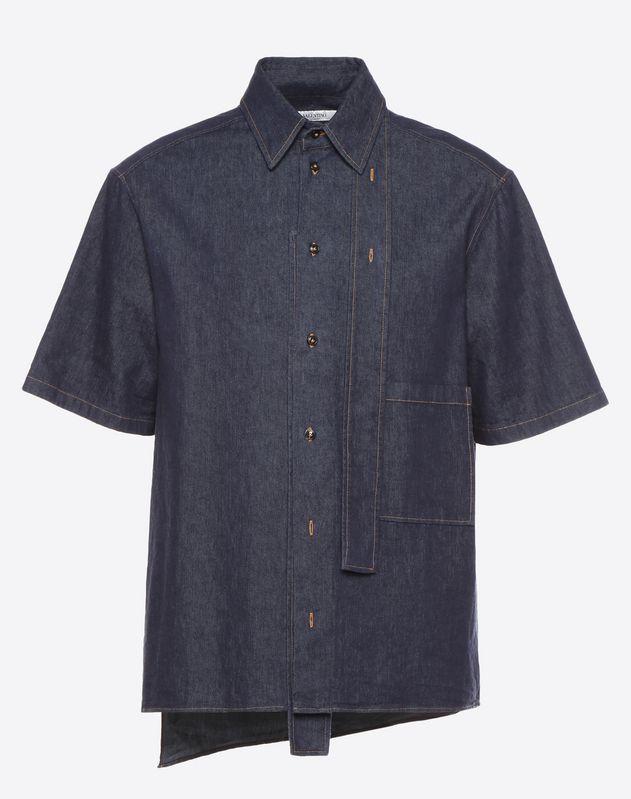 Couture-Hemd aus Denim mit kurzen Ärmeln