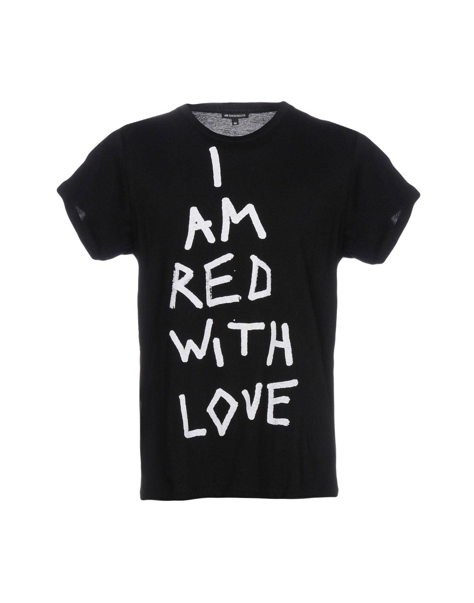 ANN DEMEULEMEESTER メンズ T シャツ ブラック XS コットン 100%