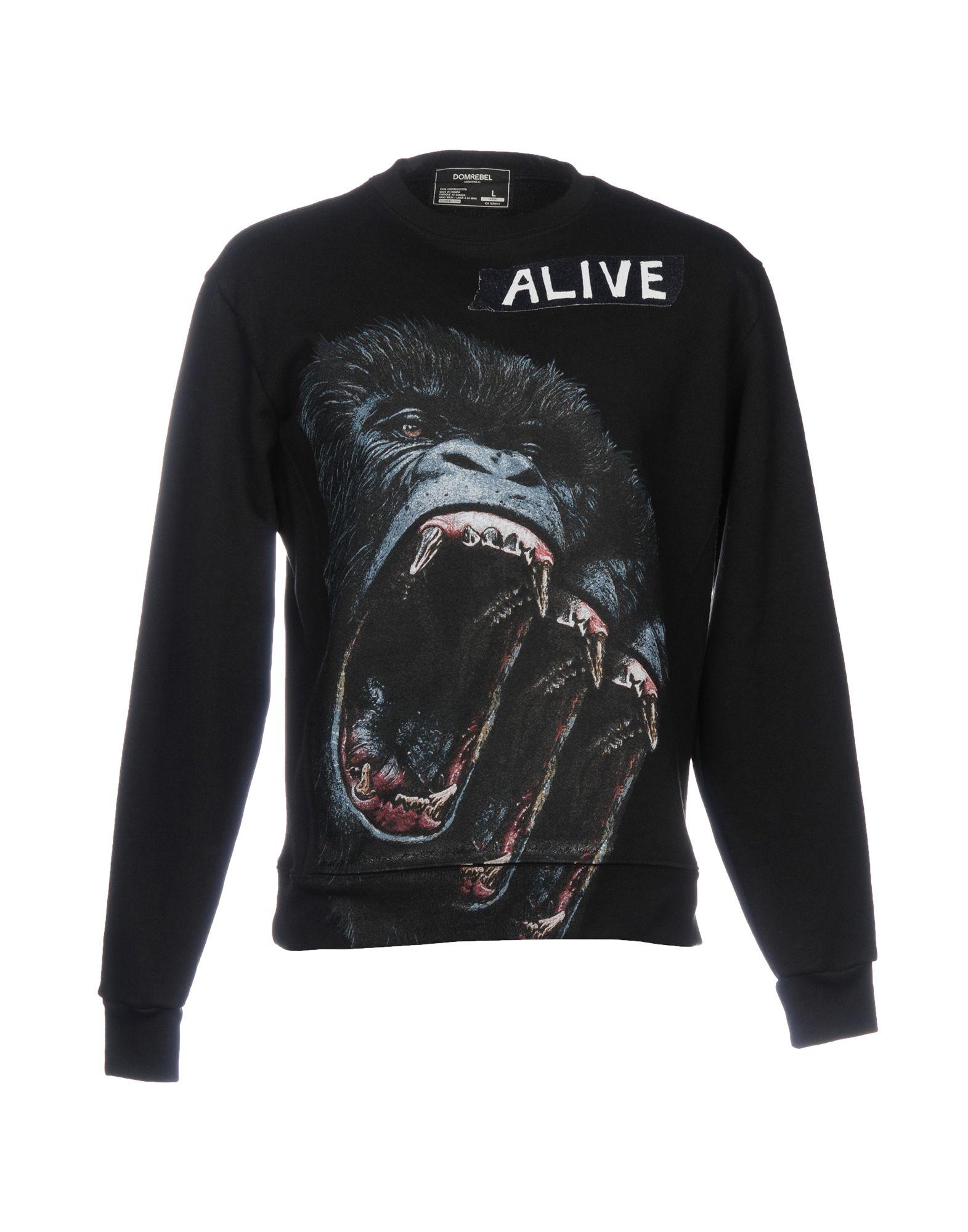 DOMREBEL Sweatshirt in Black