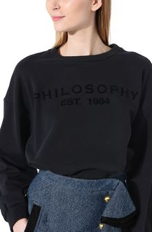 PHILOSOPHY di LORENZO SERAFINI Black Philosophy sweatshirt Sweater Woman e