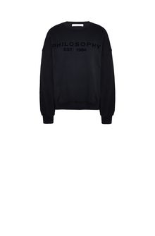 PHILOSOPHY di LORENZO SERAFINI Black Philosophy sweatshirt Sweater Woman f