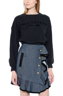PHILOSOPHY di LORENZO SERAFINI Black Philosophy sweatshirt Sweater Woman r