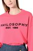 PHILOSOPHY di LORENZO SERAFINI Fuchsia Philosophy sweatshirt Jumper Woman e