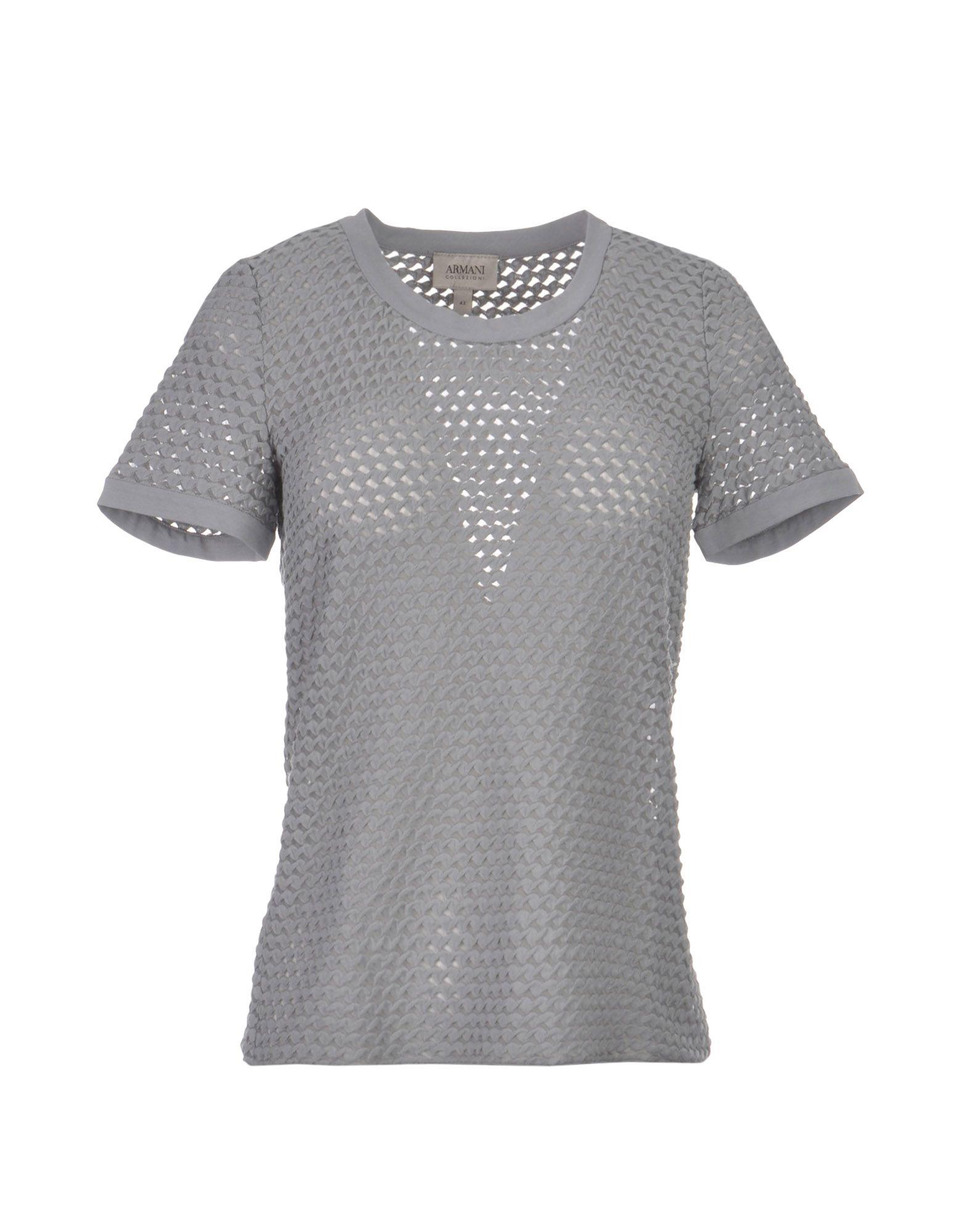 26% ARMANI COLLEZIONI Damen T-shirts Farbe Grau Größe 7
