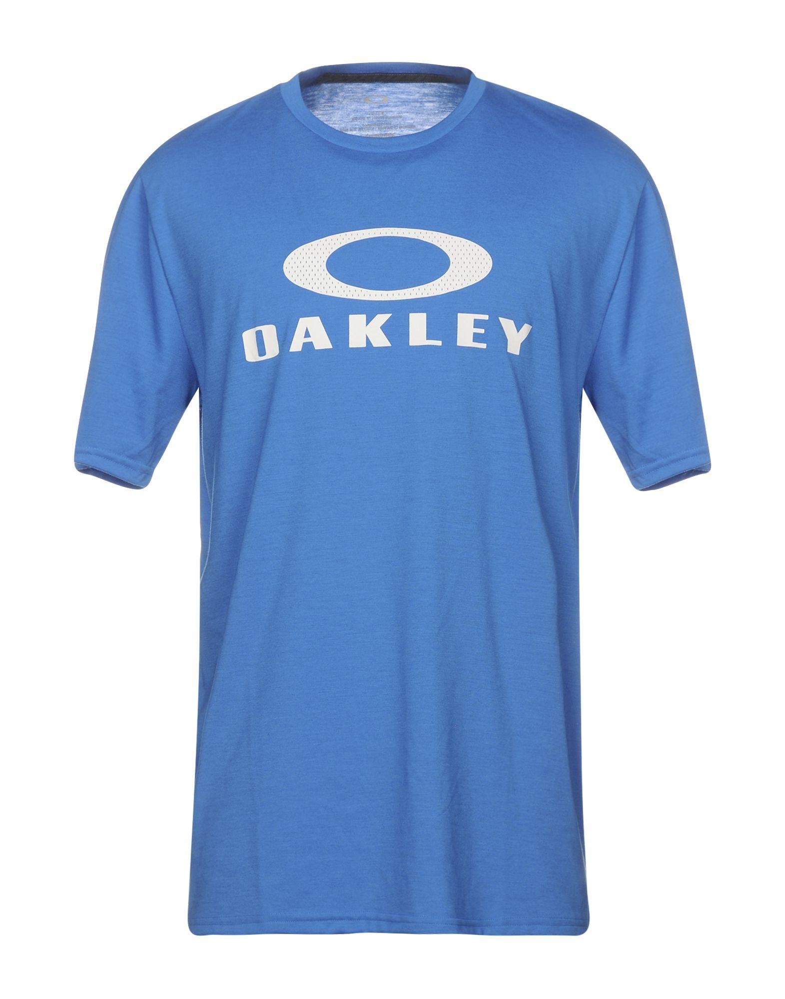 《セール開催中》OAKLEY メンズ T シャツ アジュールブルー S ポリエステル 85% / コットン 15%