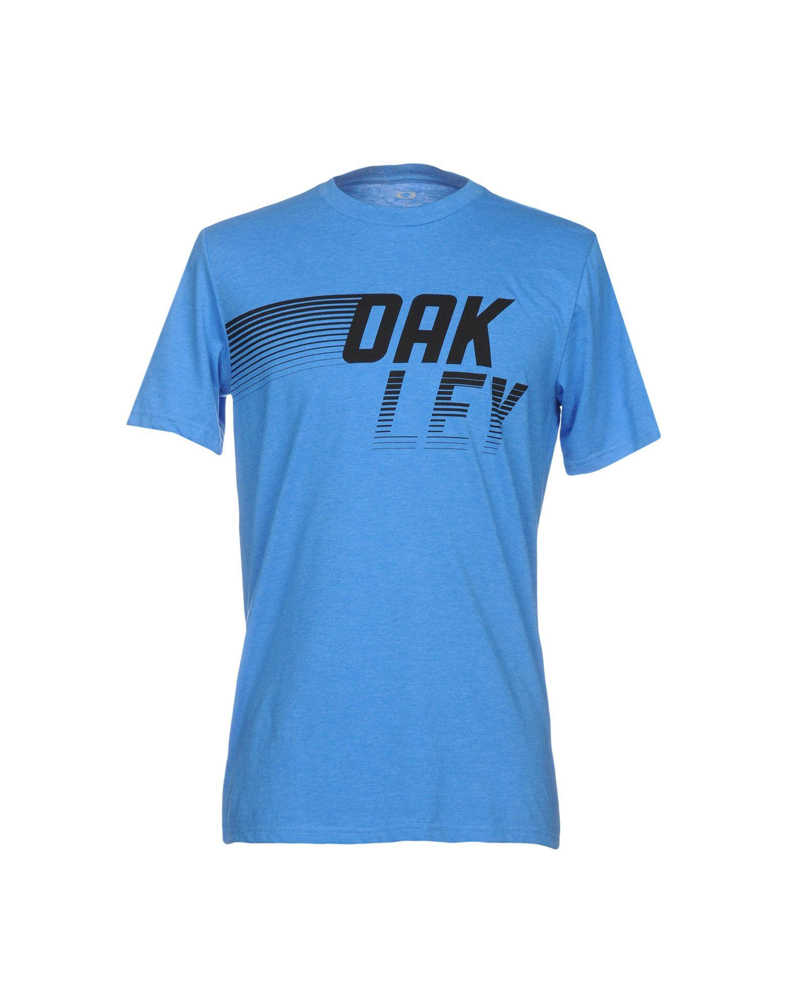 《セール開催中》OAKLEY メンズ T シャツ ブルー S コットン 50% / ポリエステル 50%