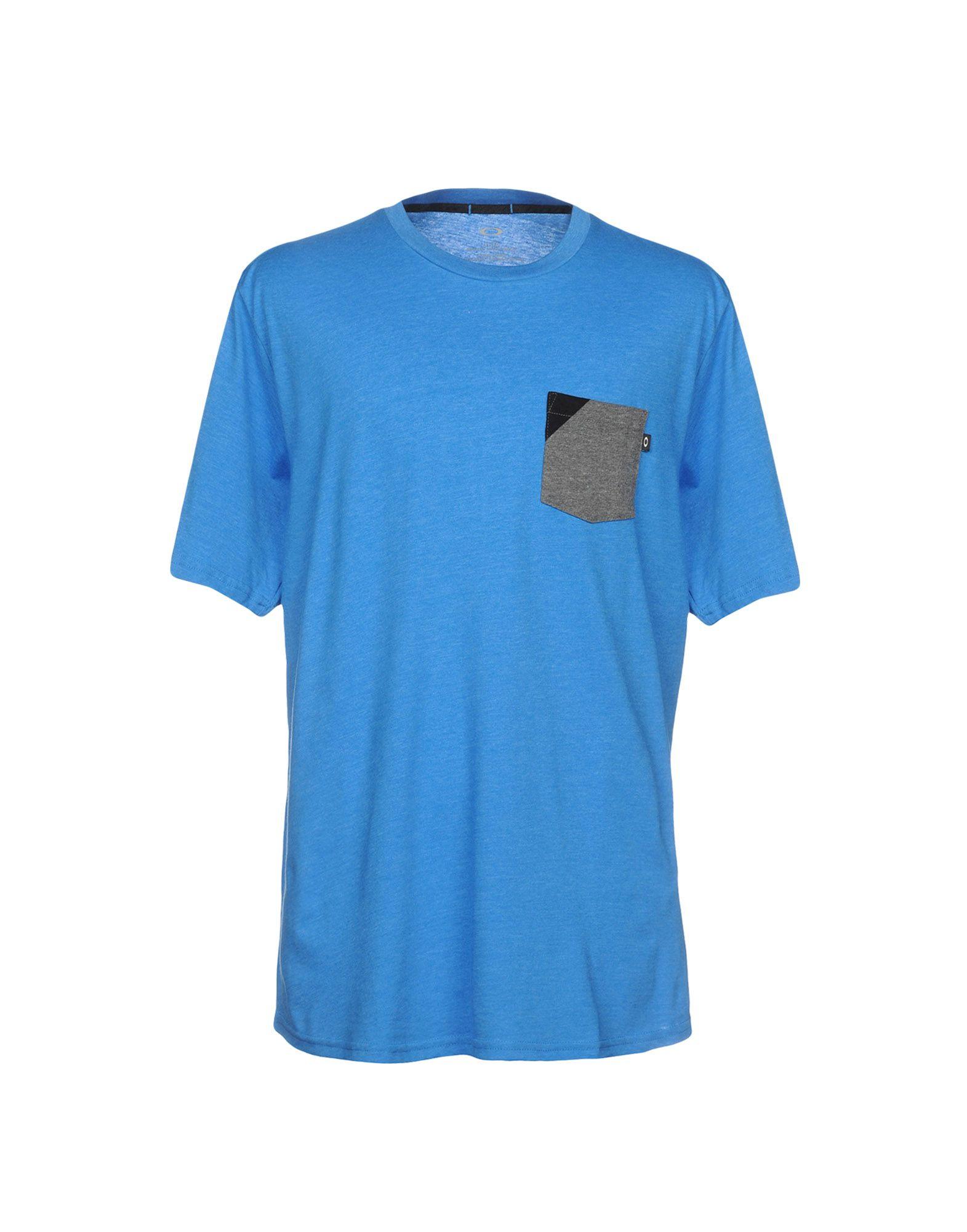 《送料無料》OAKLEY メンズ T シャツ アジュールブルー XS コットン 50% / ポリエステル 50%